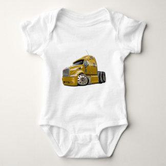 Peterbilt Gold Truck Baby Bodysuit