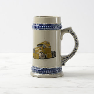 Peterbilt Gold Truck Beer Stein