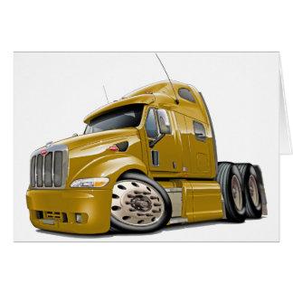 Peterbilt Gold Truck Greeting Card