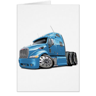 Peterbilt Lt Blue Truck Greeting Card