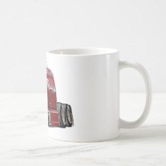 Peterbilt Maroon Truck Basic White Mug