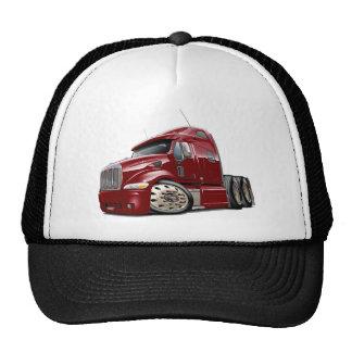 Peterbilt Maroon Truck Cap