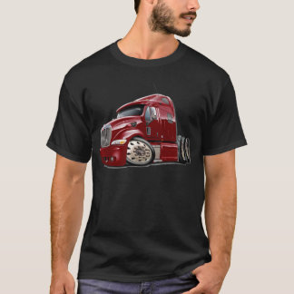 Peterbilt Maroon Truck T-Shirt