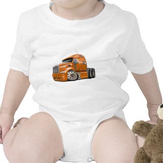 Peterbilt Orange Truck Baby Creeper