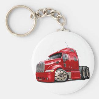 Peterbilt Red Truck Basic Round Button Key Ring