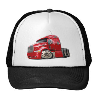 Peterbilt Red Truck Cap