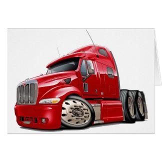 Peterbilt Red Truck Greeting Card