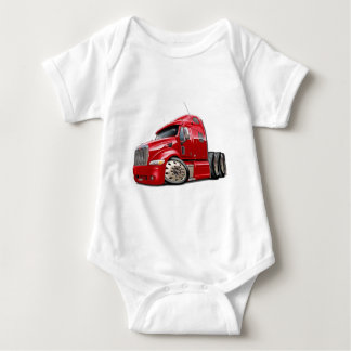 Peterbilt Red Truck Infant Creeper