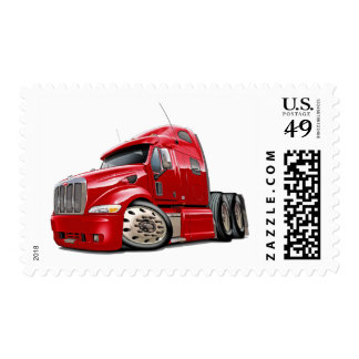 Peterbilt Red Truck Stamp