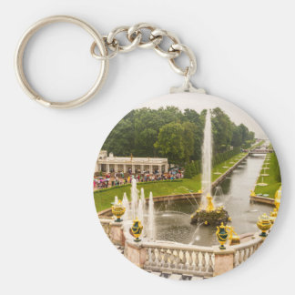 Peterhof Palace and Gardens St. Petersburg Russia Basic Round Button Key Ring