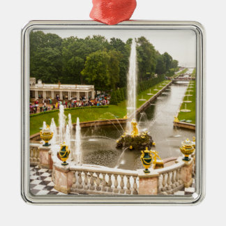 Peterhof Palace and Gardens St. Petersburg Russia Silver-Colored Square Decoration