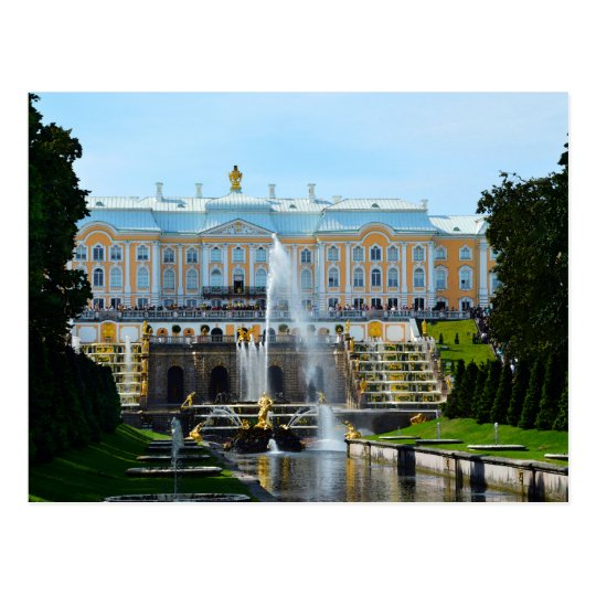 Peterhof Palace Grand Cascade, Russia Postcard
