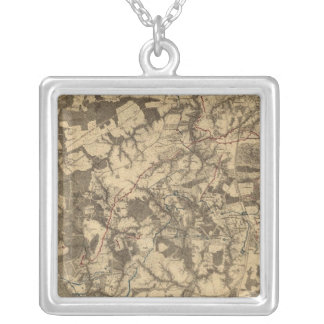 Petersburg and Five Forks, Virginia Silver Plated Necklace
