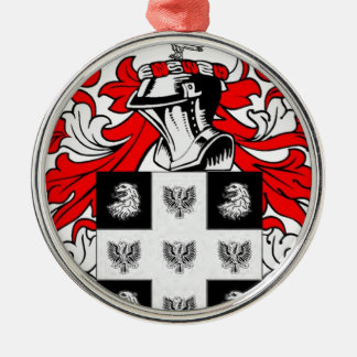 Peterson Coat of Arms Silver-Colored Round Decoration