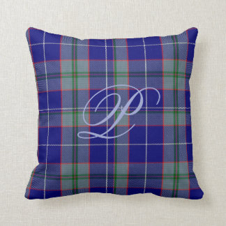 Peterson Tartan Monogram Pillow