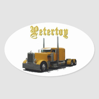 Petertoy Oval Sticker