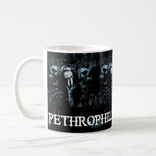 Pethrophile Promotions Skulls and Woman Mug