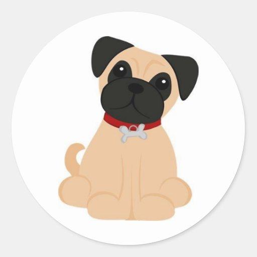Peticular Fashions - Pug Classic Round Sticker