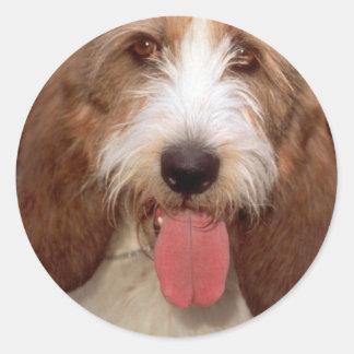 Petit Basset Griffon de Vendeen Classic Round Sticker