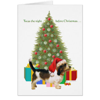 Petit Basset Griffon Vendeen Christmas Greeting Card