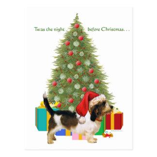 Petit Basset Griffon Vendeen Christmas Postcard