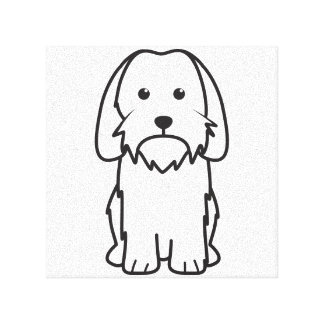 Petit Basset Griffon Vendeen Dog Cartoon Stretched Canvas Print