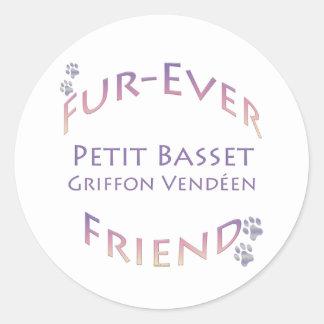 Petit Basset Griffon Vendeen Fur-ever Friend Stickers