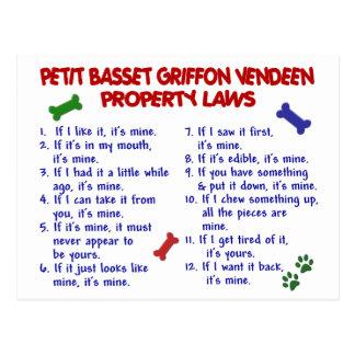 PETIT BASSET GRIFFON VENDEEN Property Laws 2 Postcard