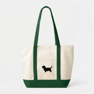 Petit Basset Griffon Vendeen Silhouette Tote Bag