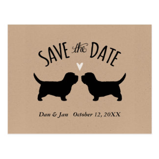 Petit Basset Griffon Vendeen Wedding Save the Date Postcard