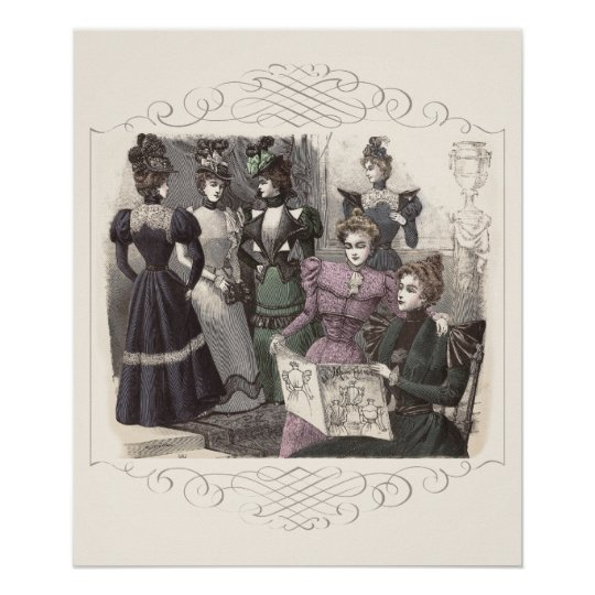 Petit Echo de La Mode Vintage French Fashion Poster
