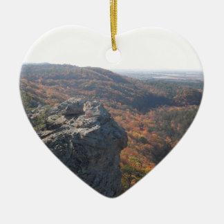 Petit Jean State Park Arkansas Ceramic Heart Decoration