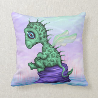 PETIT LEZY ALIEN CARTOON THROW PILLOW 16 X 16