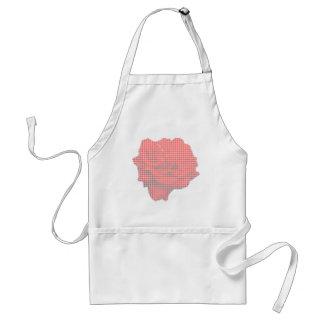 Petit Point Red Rose Apron