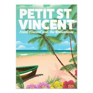 Petit Saint Vincent holiday poster. Photo Print