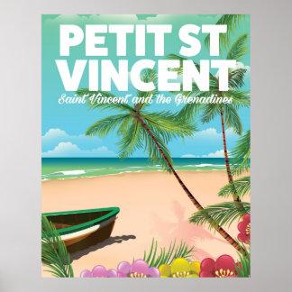 Petit Saint Vincent vintage style beach poster