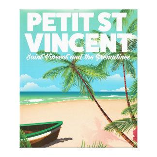 Petit Saint Vincent vintage style beach poster Canvas Print