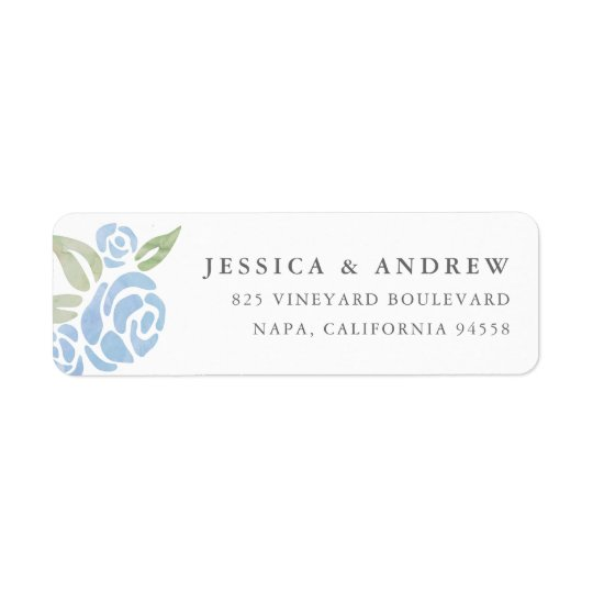 Petite Bouquet Return Address Labels | Cornflower
