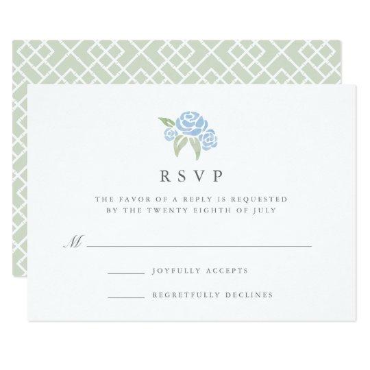 Petite Bouquet RSVP Card | Cornflower