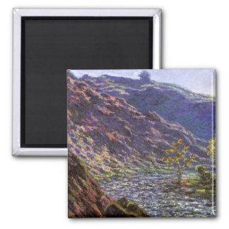 Petite Creuse, Sunlight by Claude Monet Square Magnet