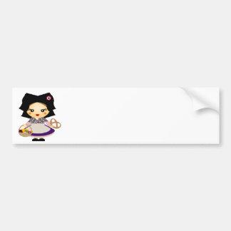 Petite fille alsacienne bumper sticker