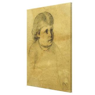 Petite fille (charcoal) canvas print