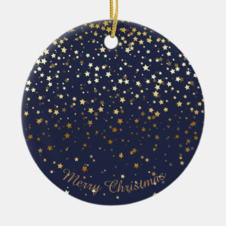 Petite Golden Stars Christmas Ornament-Midnight Christmas Ornament