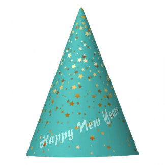 Petite Golden Stars Party Hat-Happy New Years Party Hat