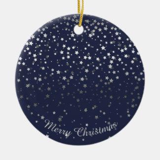 Petite Silver Stars Christmas Ornament-Midnight Christmas Ornament