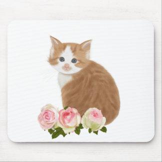 "PetitRose ""Cute Ginger Kitten"" , Mousepad"