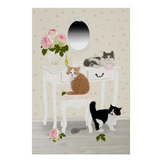 "PetitRose ""Kittens Beauty Salon"" , Poster"