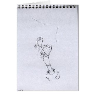 Petits Dessins Debiles - Small Weak Drawings#11 Greeting Card