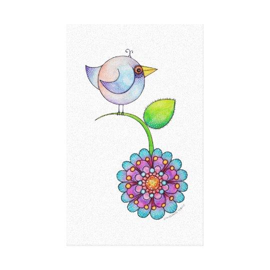 'Petitsa' the bird canvas