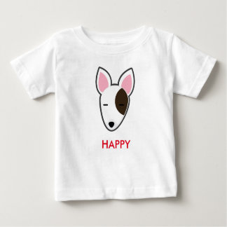 Petory Bull Terrier Happy Kid Baby T-Shirt